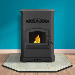 pelpro pellet stove pp130 in room-woodpelletfacts.com